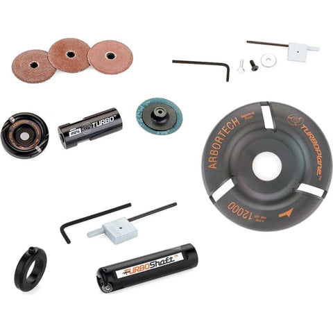 Arbortech Total Turbo Bundle includes Turbo Plane, Turbo Shaft, and Mini Turbo