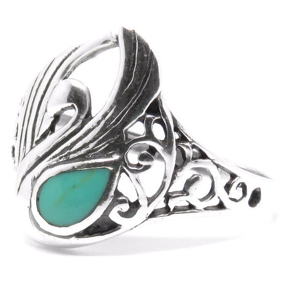 Coscoroba Swan Ring (Sterling Silver)  - VELVET HEAD
