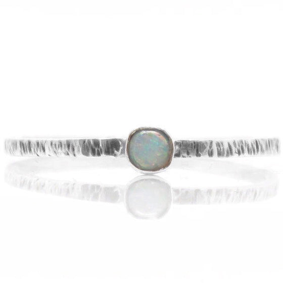 Helix Opal Ring (Sterling Silver)  - VELVET HEAD