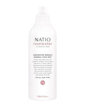 NATIO Rosewater Drench Mineral Face Mist
