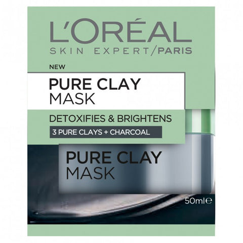 L'OREAL PARIS Pure Clay Mask With Charcoal (50ml)