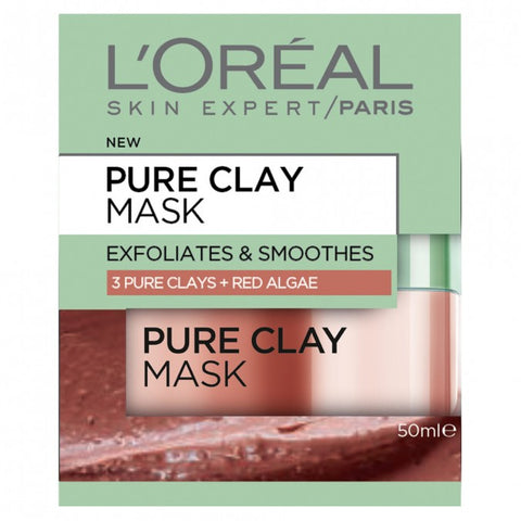 L'OREAL PARIS Clay Mask With Red Algae (50ml)