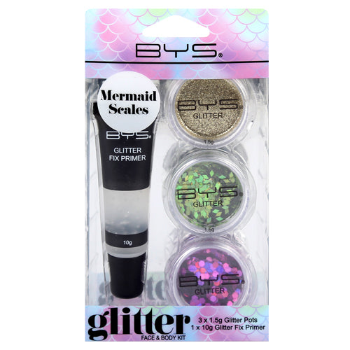 BYS Mermaid Scales Glitter Face & Body Kit