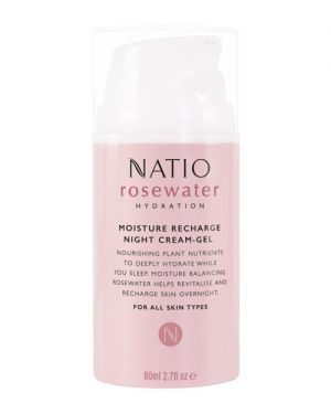 Rosewater Moisture Recharge Night Cream-Gel