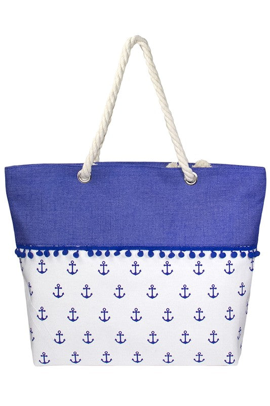 Anchor Pom Pom // Sail to Sea Totes