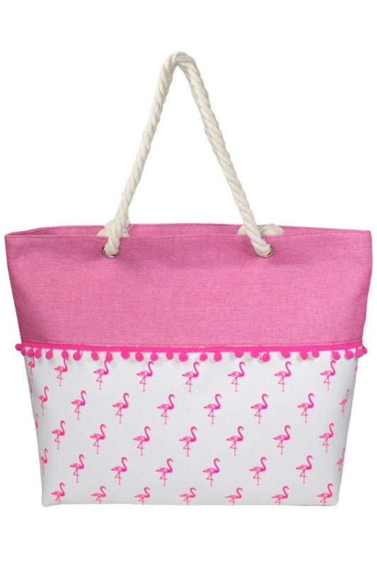 Flamingo Pom Pom // Sail to Sea Totes