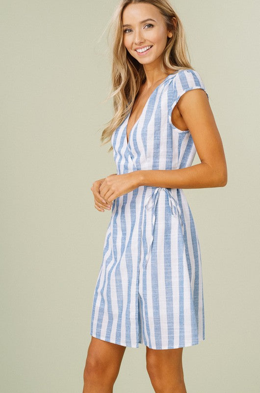 Striped Wrap Dress