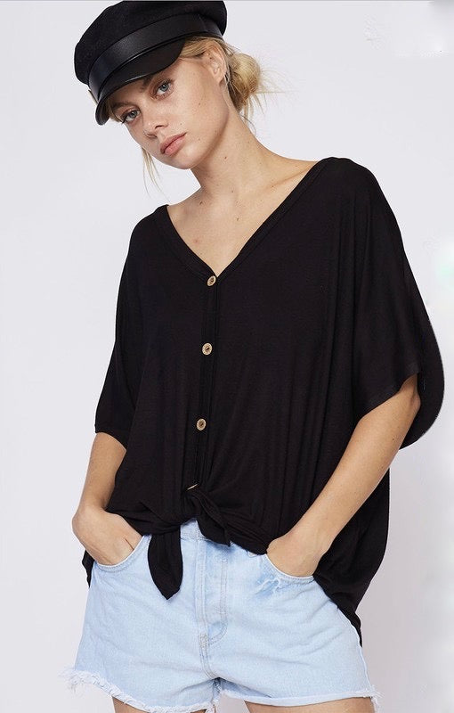 Button Down Jersey Cardigan - GlamVault