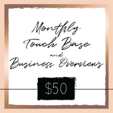 Monthly Touch Base & Business Overviews - GlamVault