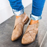 Wrap Slip On Flats with Buckle - GlamVault