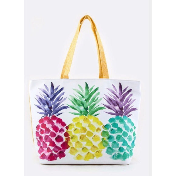 Pineapple Rainbow Tote