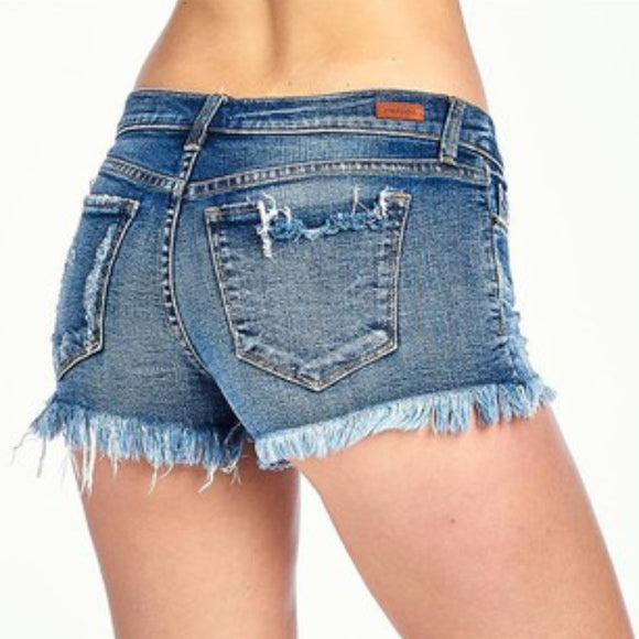 Distressed Frayed Shorts