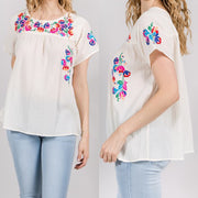 Ivory Flutter short sleeve T-shirt