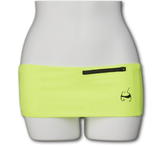 Neon Yellow Fanny Pack (Black Zip)