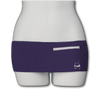 Plush Purple Fanny Pack (White Zip)