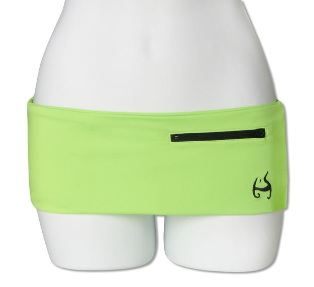Neon Green Fanny Pack (Black Zipper)