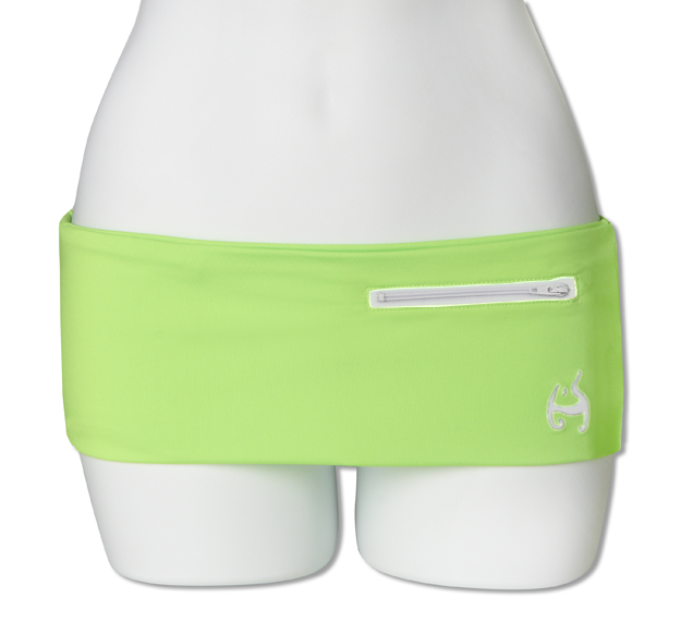 Neon Green Fanny Pack (White Zipper)