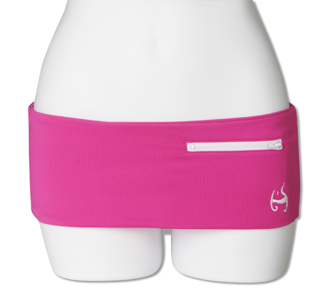 Neon Pink Fanny Pack (White Zipper)