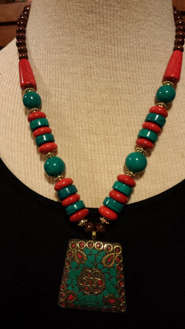 NECKLACE INDIA RED,