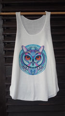Art Tank Top (33) Owl