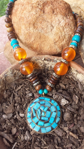 Musaic Turquoise Stone Necklace