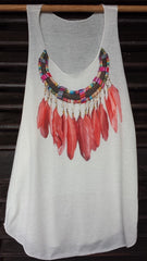 Art Tank Top (13) Feathers