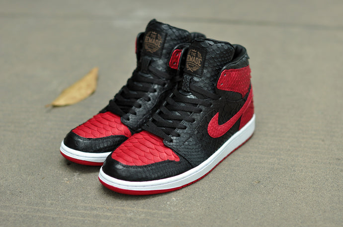 "Air Jordan 1 Black & Red ""Python"""