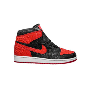 Red & Black Python 1's - The Remade