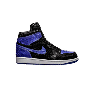 Blue & Black Python 1's - The Remade