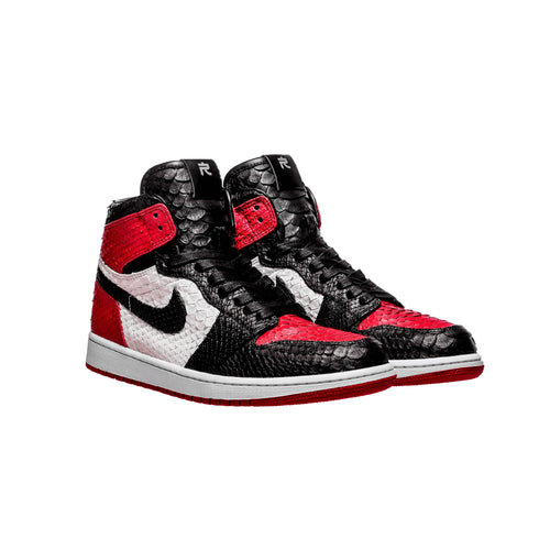 Red, Black & White Python 1's - The Remade