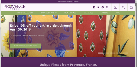 Provence Table online store