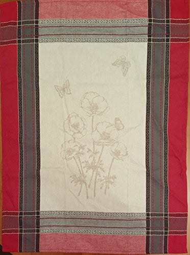 Poppies Kitchen Towel - Red/White/Multi