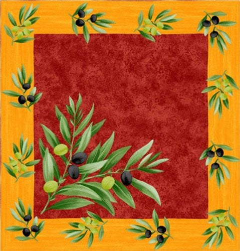 Olive Grove Napkins - Red / Yellow, Set of 2