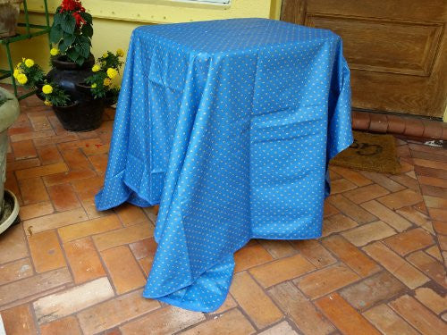 Esterel Coated Cotton Outdoor Jacquard Tablecloth 63 in. x 100 in.