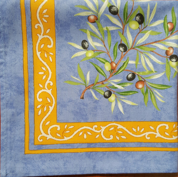 Olive Branch Printed Cotton Napkin