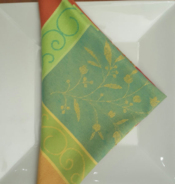 Orangerie Cotton Jacquard Napkins - Set of 2