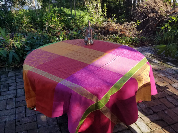 Orangerie Cotton Jacquard Tablecloth