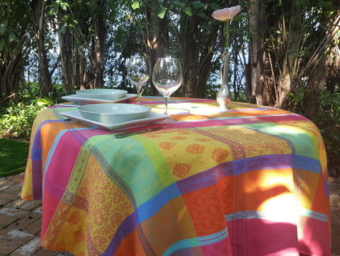 Provence Spring Cotton Jacquard Tablecloth