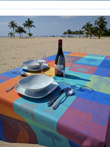 Summer Vacation Tablecloth