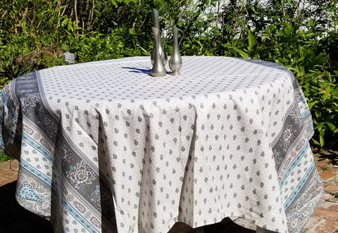 Provence Traditions Coated Printed Cotton Rectangular Tablecloth 98