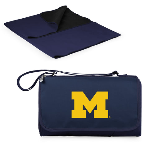 Michigan Wolverines Blanket Tote in Navy