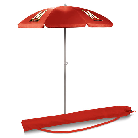 Maryland Terrapins 5.5' Portable Beach/Picnic Umbrella in Red