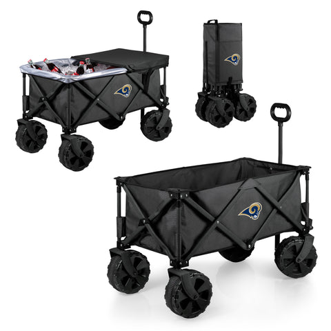 Los Angeles Rams Adventure Wagon Elite with All Terrain Wheels in Dark Grey