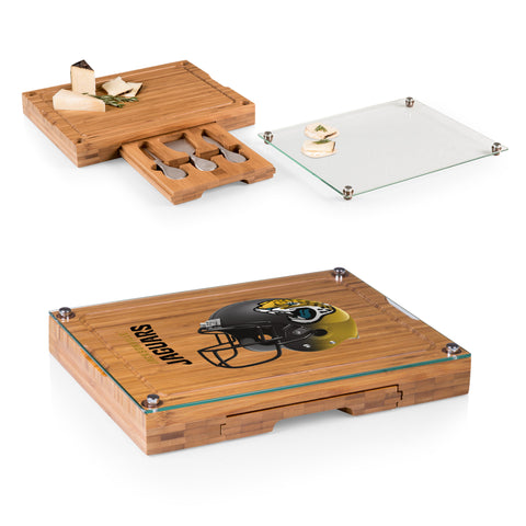Jacksonville Jaguars Concerto Bamboo Cutting Board/Tray and Cheese Tools Set