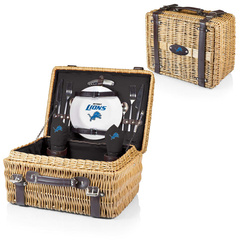 Detroit Lions Champion Picnic Basket in Black