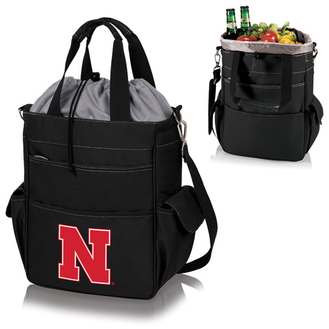 Nebraska Cornhuskers Activo Cooler Tote in Black