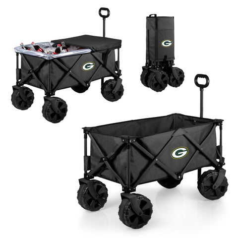 Green Bay Packers Adventure Wagon Elite with All Terrain Wheels in Dark Grey