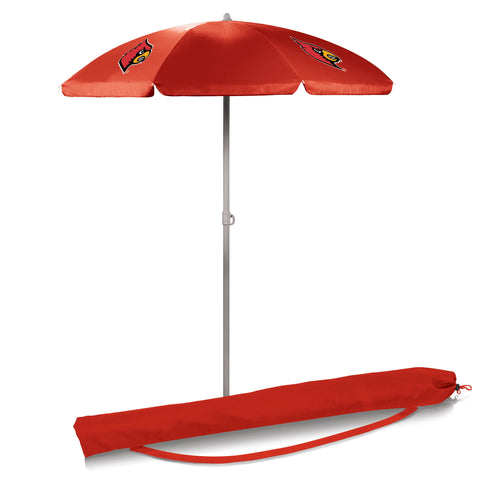 Louisville Cardinals 5.5' Portable Beach/Picnic Umbrella in Red