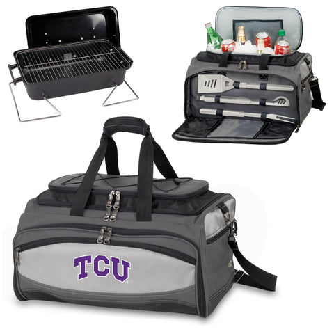 TCU Horned Frogs Buccaneer Portable BBQ and Cooler Tote