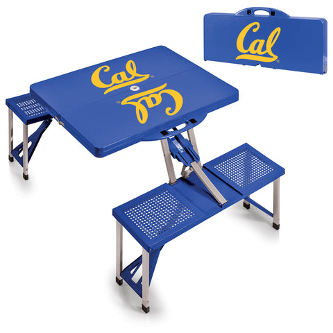 Cal Bears Portable Picnic Table in Blue